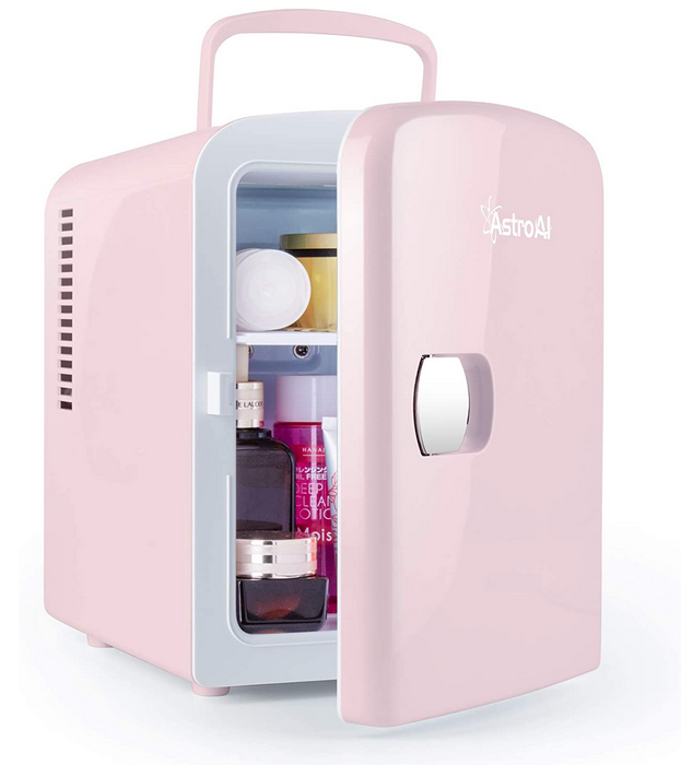 AstroAl Mini Fridge in pink Great Gifts for Graduates