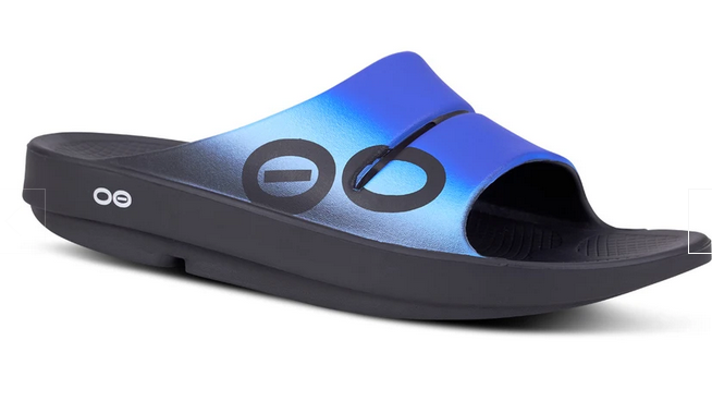 Mens Oofos sport slide sandal Great Gifts for Grads
