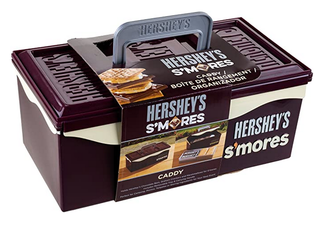 Hershey's S'mores caddy holds chocolate marshmallow and graham crackers