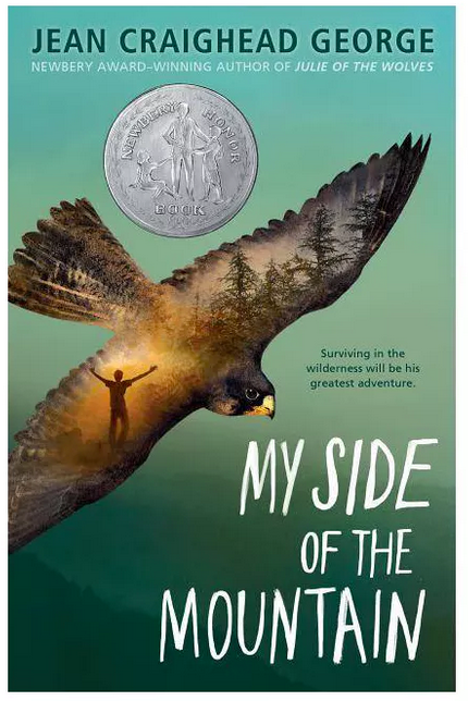 My Side of the Mountain book by Jean Craighead George with boys as main characters