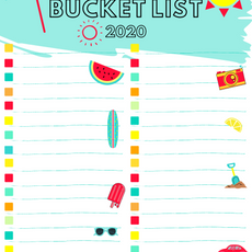 Summer Bucket List Fill In Teal Printable