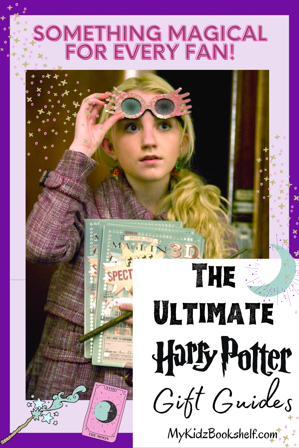 The Ultimate Harry Potter Gift Guides with photo of Luna Lovegood holding her glasses