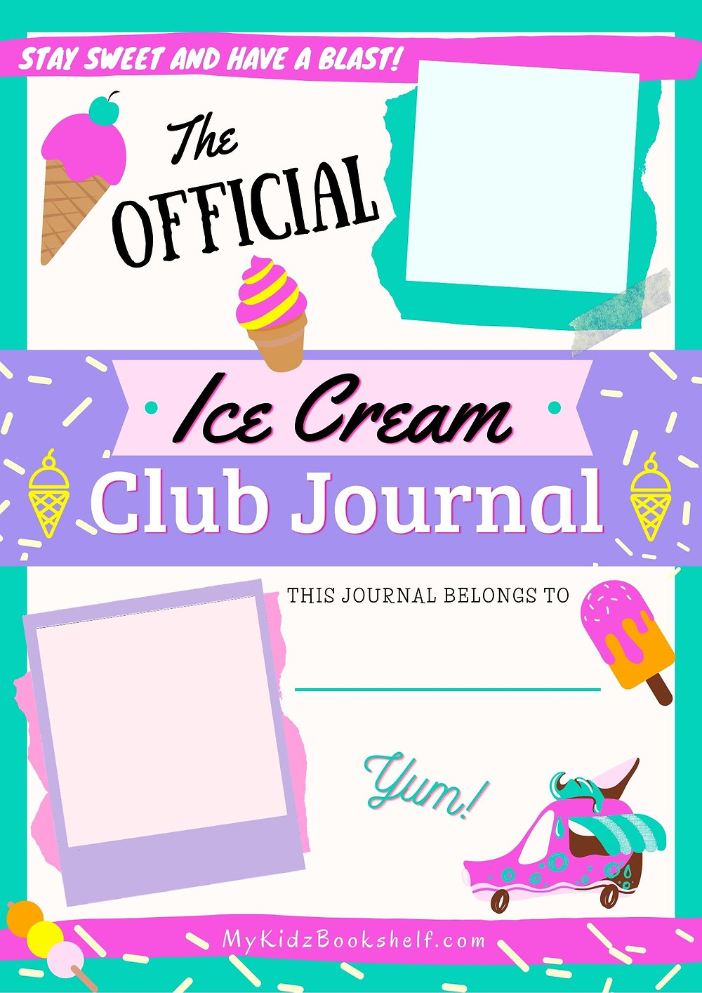 The Official Ice Cream Club Journal Free Printable Cover