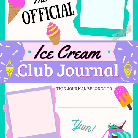 Ice Cream Journal Cover Printable