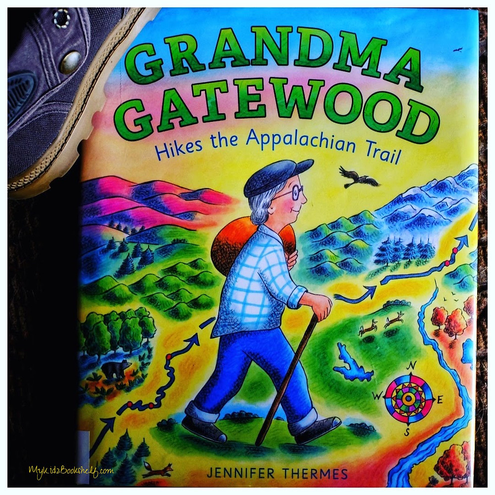 Grandma Gatewood Hikes the Appalachian Trail picture book cover with shoes