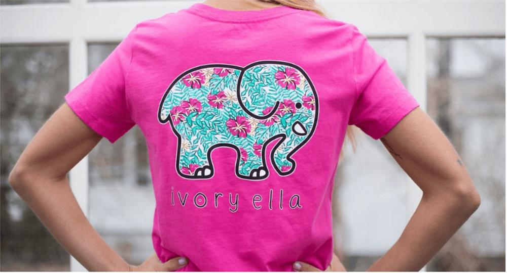 Ivory Ella Tee Shirt Elephant