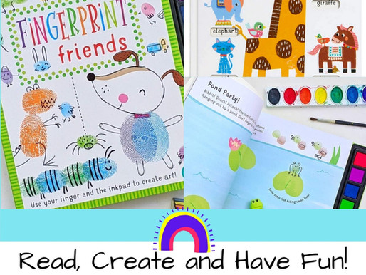 Fingerprint Friends and My First Slide & Seek: Two Terrific Activity Books for Young Kids!