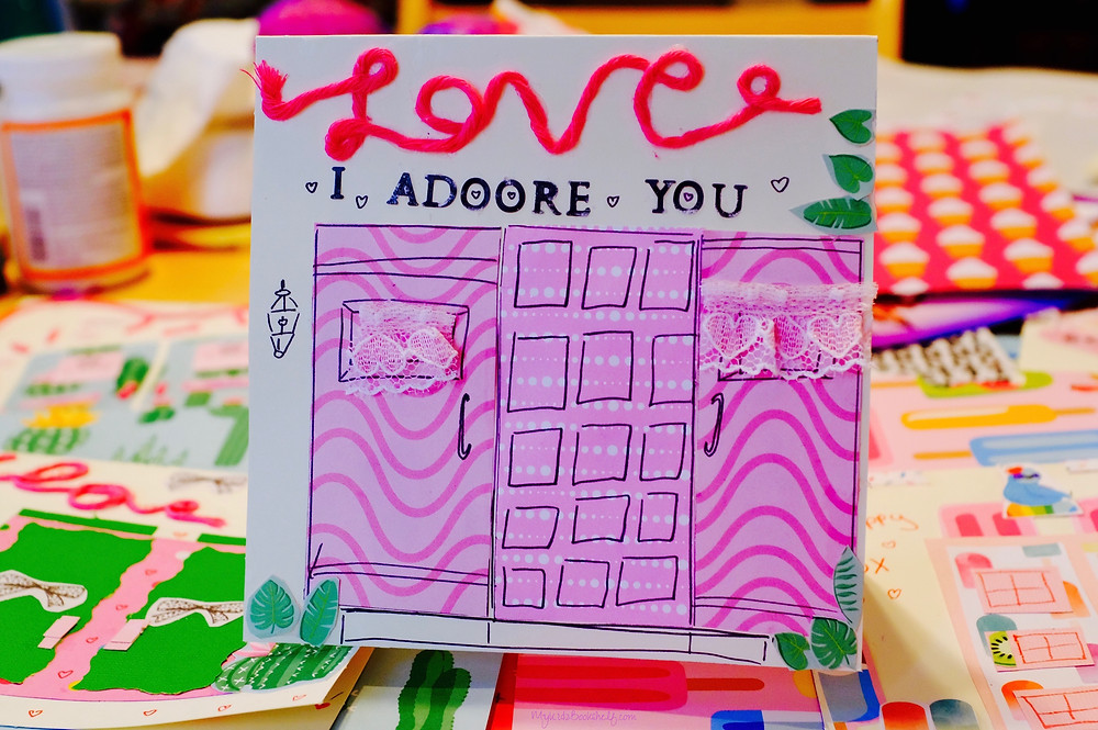Valentines DIY card  mixed media collage fun craft for kids