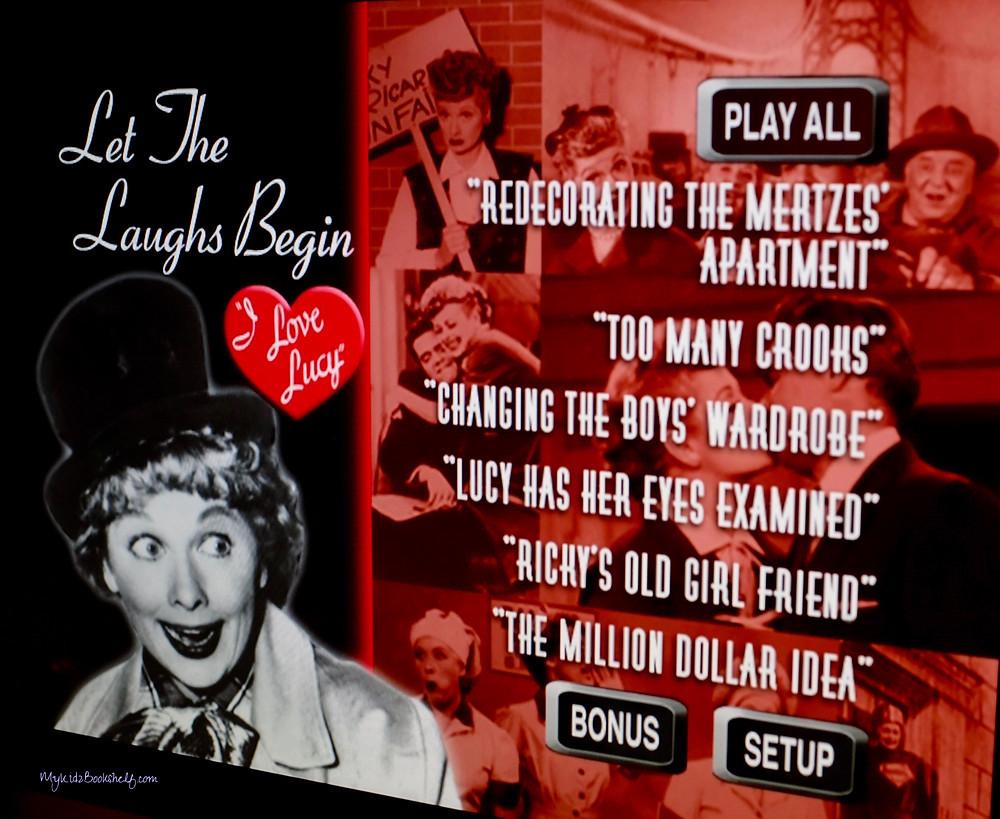 I Love Lucy scene menu