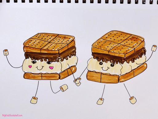 How to Draw a Sweet S'more Tutorial!