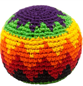 hackeysack-colorful round ball made of woven or knitted string fibers