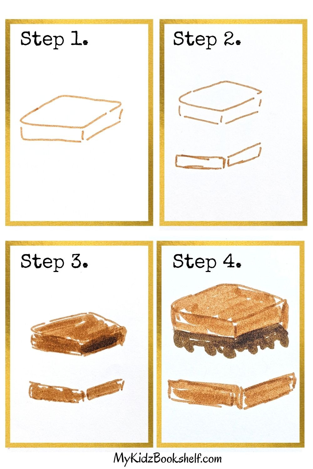How to draw S'More friends tutorial first four steps