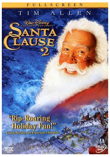 Walt Disney's Santa Clause 2 starring Tim Allen dvd cover as Santa Claus
