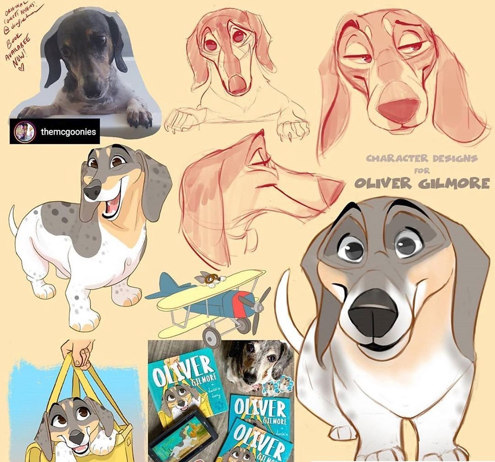Concept illustrations by Dave Reed for Oliver Gilmore: A Doxie's Diary by Greg McGoon