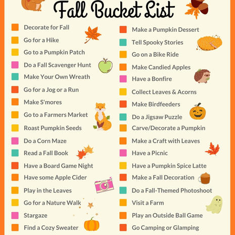 The Best Fall Bucket List Printable
