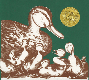 Make Way for Ducklings by Robert McCloskey book cover with mother duck and ducklings