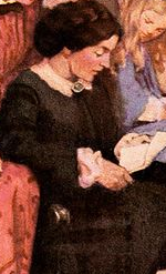 Marmee from Little Women by Louisa May Alcott reading a letter