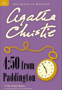 bookcover for Agatha Christie novel 4:50 from Paddington with picture of pocket watch on cover