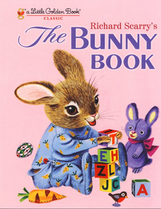 illustrated bunny on book cover stacking blocks The Bunny Book by Richard Scarry