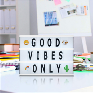 light box graduation gift ideas Good vibes only quote