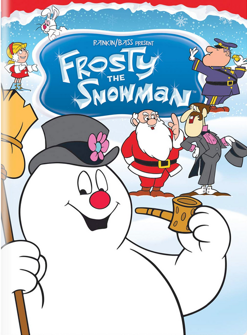 Rankin/Bass present Frosty the Snowman dvd with Frost, Santa and the bad magician on the cover