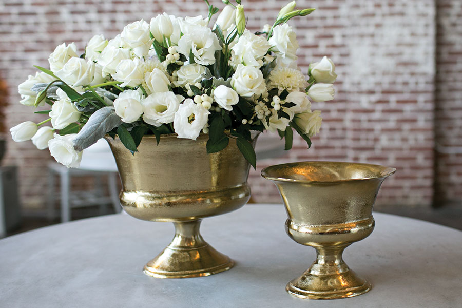 gold small urn
