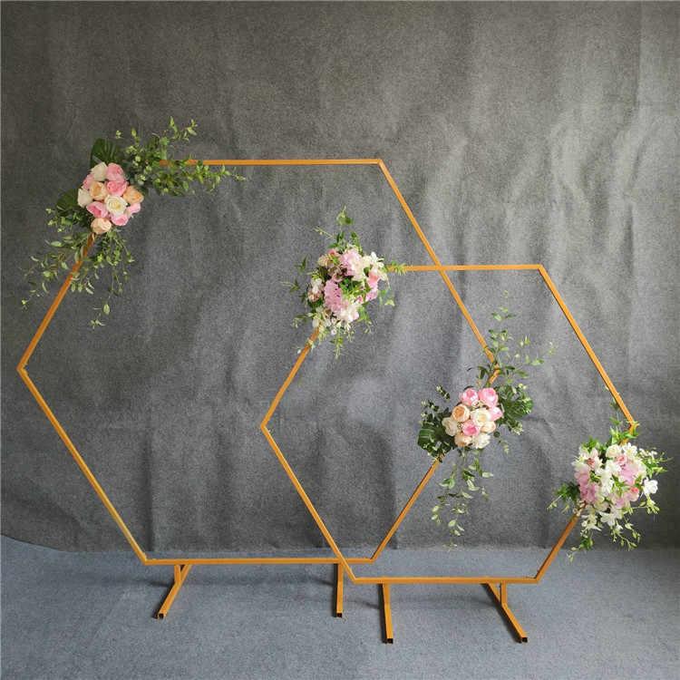 Hexagonal-arch-wedding-diamond-wrought-A