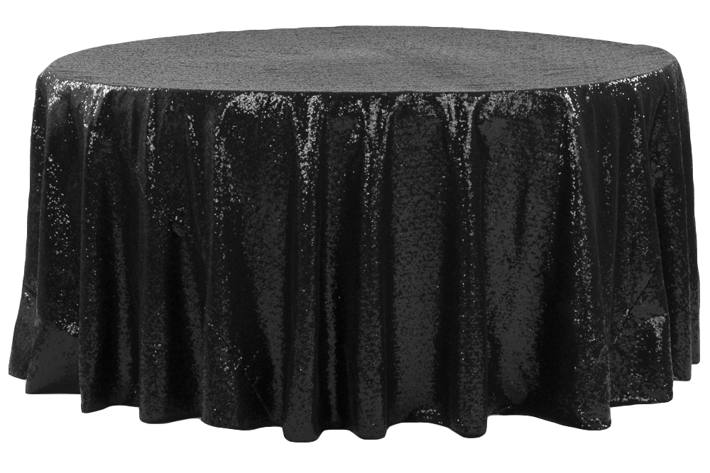 Glitz-RoundTablecloth_-_Black