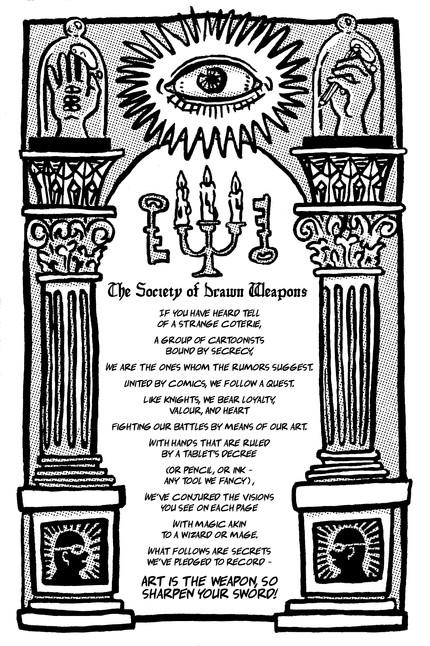 Drawn Weapons Manifesto (poem and illustration), 2017