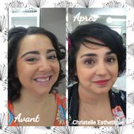 Maquillage avant/aprés