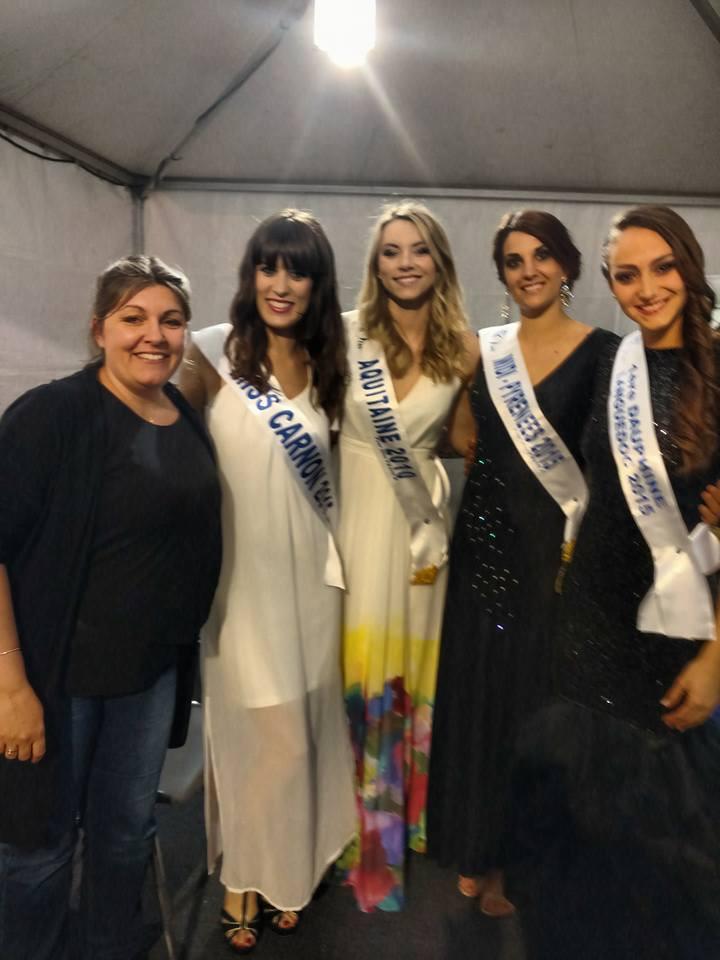 Avec Miss Carnon 2015, Miss Aquitaine 2010, Miss midi Pyrénées 2015 et 1ere dauphine Miss Languedoc 2015