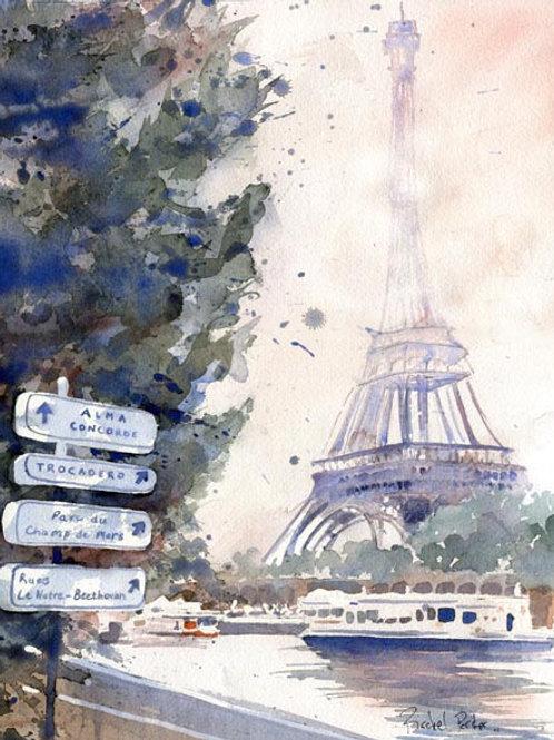 """""""Eiffel Tower Impressions"""" Giclée"""