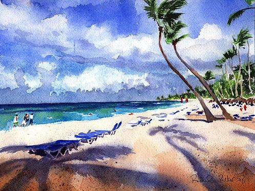 """""""Caribbean Beach"""" Giclée"""