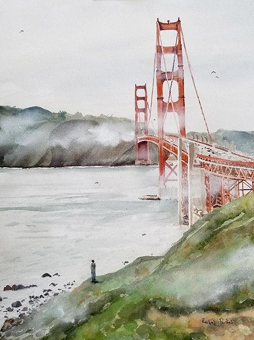 """""""Golden Gate View"""" Art Print Giclée"""