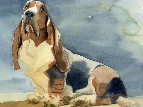 """Ain't Nothin' But a Hound Dog"" Giclée"