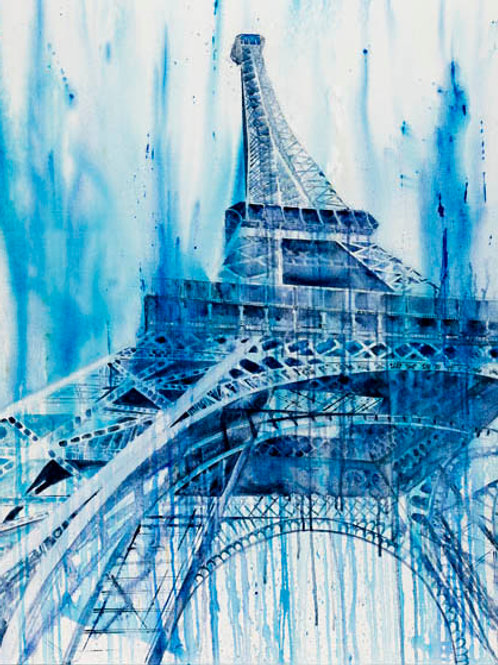 """Eiffel Tower Blues"" Giclée"
