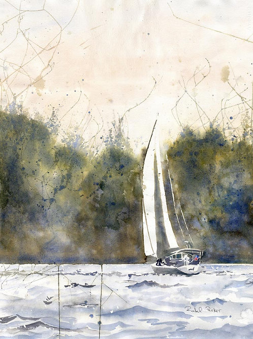 """Daze Off"" Sailboat Art Giclée Print"