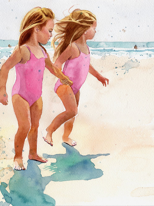 """Beach Girls"" Giclée"