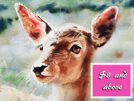 Fawn Tutorial - 3 hours of watercolor painting bliss!