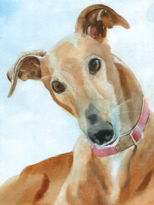 """Greyhound"" Giclée"