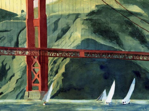 """Golden Gate Regatta"" Giclée"