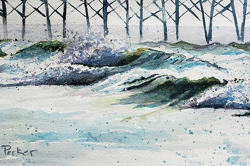 Waves at Dusk Giclée Art Print