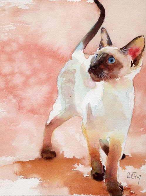 """Take a Stand"" Siamese Cat Giclée"
