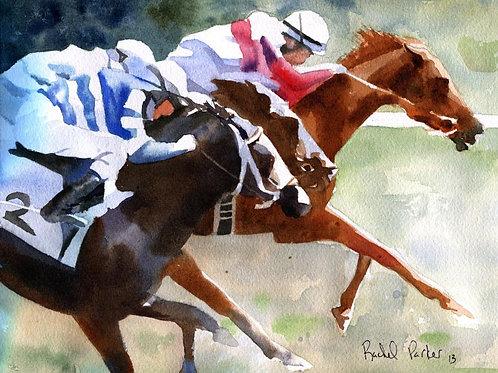 """""""Sassy's Race"""" Racehorse Giclée"""