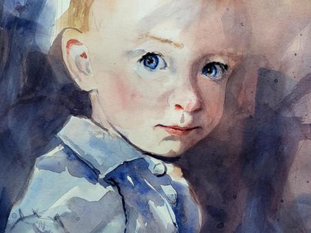 Parker on Hot Press Watercolor Tutorial