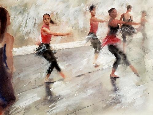 """""""Ballerina Blur"""" Ballet Giclée Art Print"""