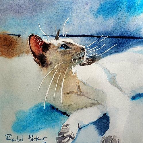Original Siamese CatWatercolor