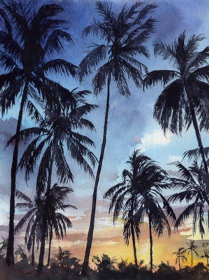"""""""Tropical Sunset"""" Giclée"""