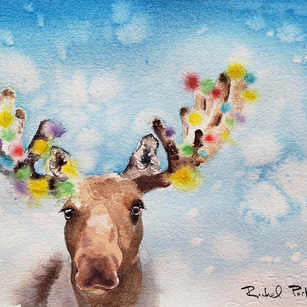 Moose 1, Christmas Tree 0