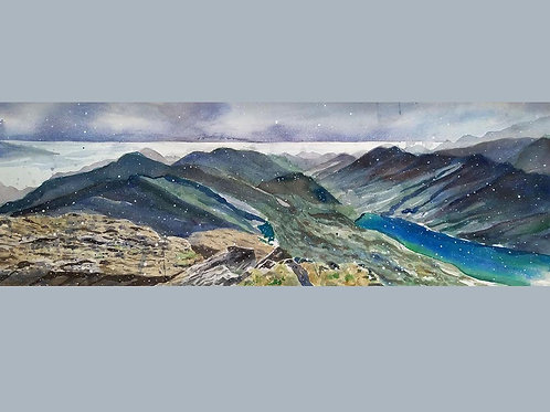 """Suicide Peaks, Alaska"" Original Painting Watercolor Art"
